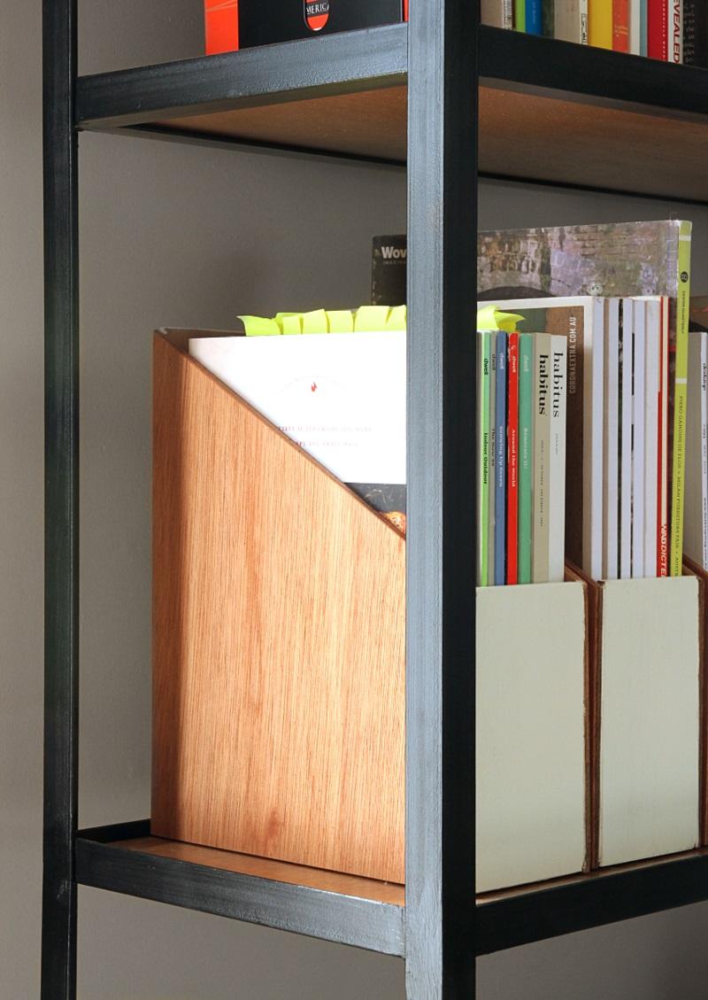 Büroaccessoires Stehsammler aus Holz selber bauen