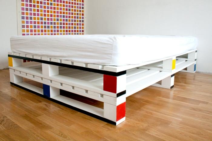 schlafzimmer ideen Bett aus paletten sofa aus paletten paletten bett möbel aus paletten bauhaus