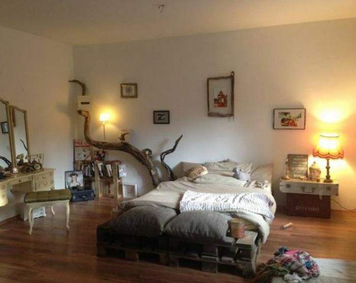 schlafzimmer ideen Bett aus paletten sofa aus paletten paletten bett möbel aus paletten 2