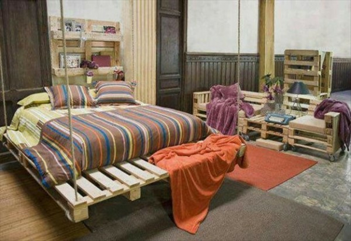 Bett aus paletten sofa aus paletten paletten bett möbel aus paletten schaukelbett