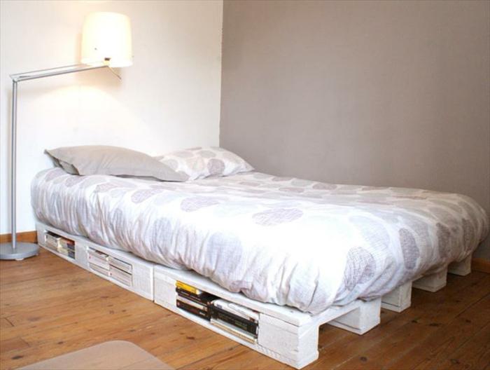 Bett aus paletten sofa aus paletten paletten bett möbel aus paletten zusammen schlafzimmer ideen NEU