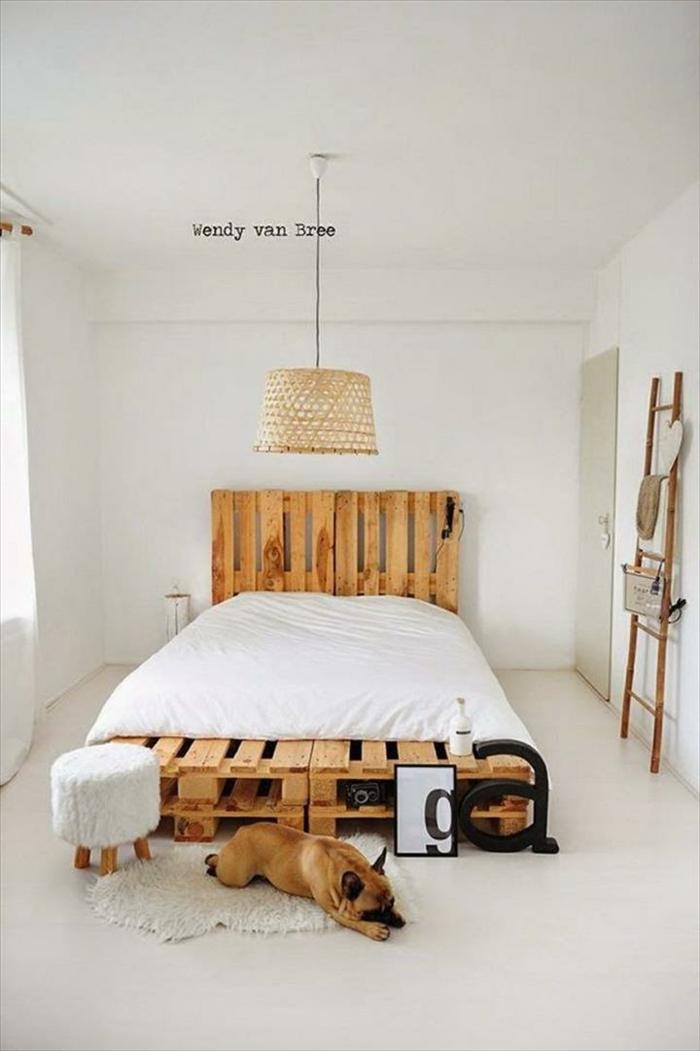 Bett aus paletten sofa aus paletten paletten bett möbel aus paletten zusammen schlafzimmer ideen NEU10