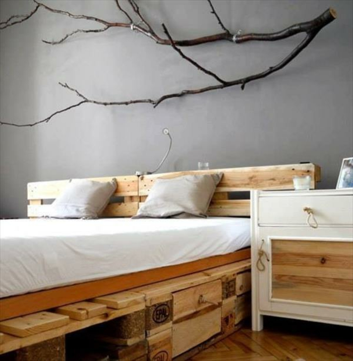 noch 64 schlafzimmer ideen f r m bel aus paletten. Black Bedroom Furniture Sets. Home Design Ideas