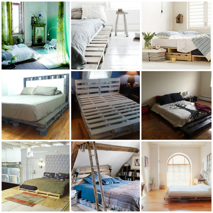 Bettaus paletten sofa aus paletten paletten bett möbel aus paletten zusammen schlafzimmer ideen collage2
