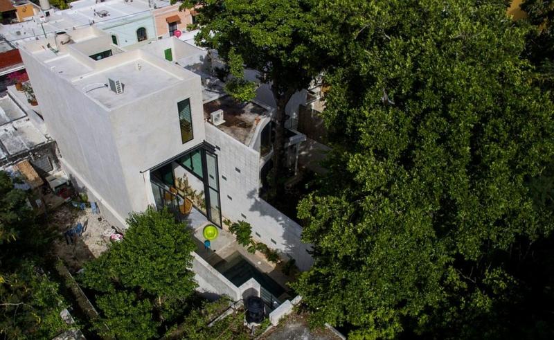 Casa Desnuda Merida Mexico Moderne Häuser bauen Architektenhäuser Hausfassade