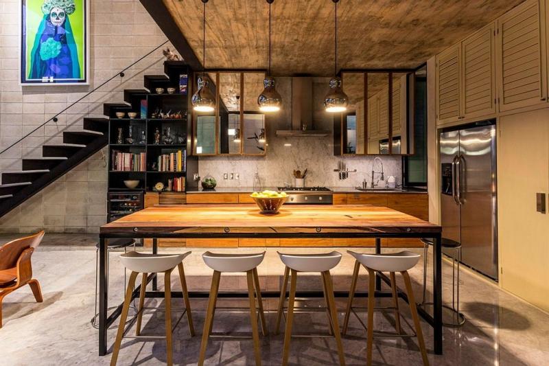 Casa Desnuda Merida Mexico Moderne Häuser bauen Esszimmer