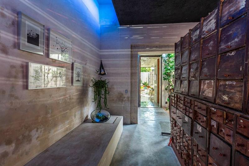 Casa Desnuda Merida Mexico Moderne Häuser bauen Keller Beton Optik