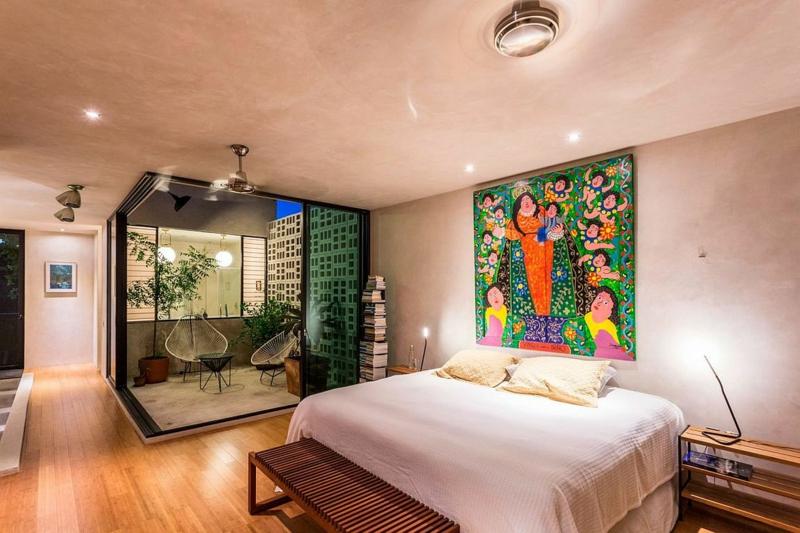 Casa Desnuda Merida Mexiko Moderne Häuser bauen Schlafzimmer