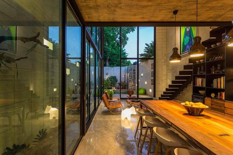 Casa Desnuda Merida Mexico Moderne Häuser bauen indirekte Beleuchtung