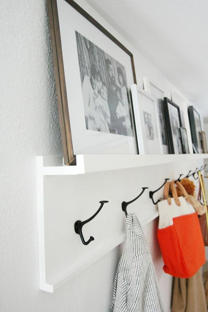 DIY Garderobenständer Garderobe selber bauen Bilderleiste