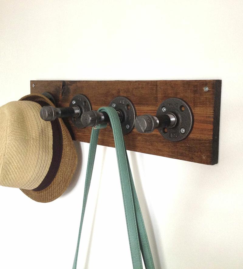 DIY Garderobenständer Garderobe bauen Industrial Style Möbel