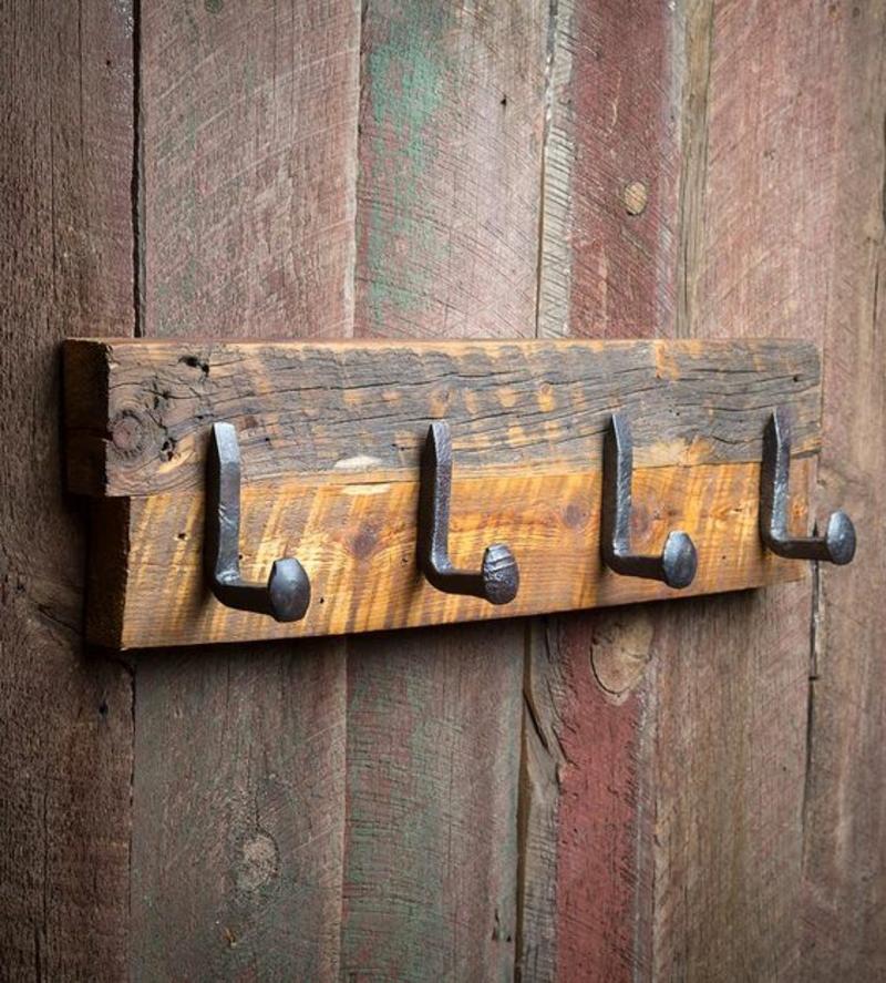 DIY Garderobe selber bauen Holz Flurmöbel selber bauen