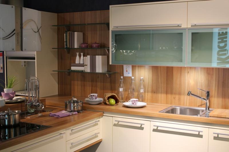 Designerküchen Holz Küchenarbeitsplatte Küchenschränke