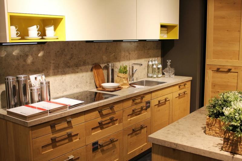 Designerküchen Küche aus Massivholz Küchenrückwand