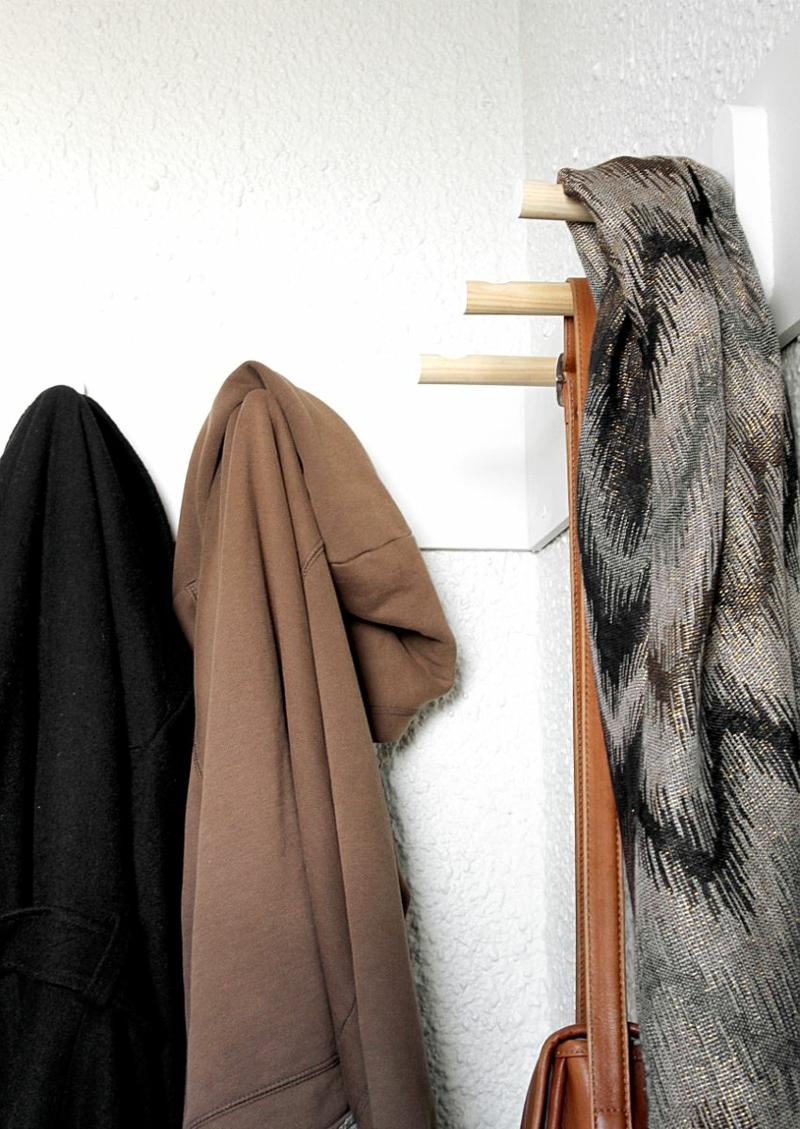 Dielenmöbel DIY Garderobenständer Flurmöbel Garderobe selber bauen