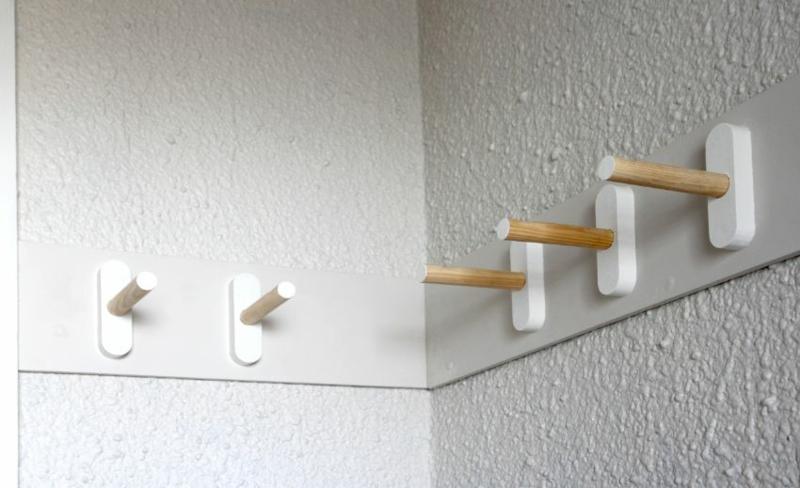 Dielenmöbel DIY Garderobenständer Kleiderhaken Garderobe selber bauen