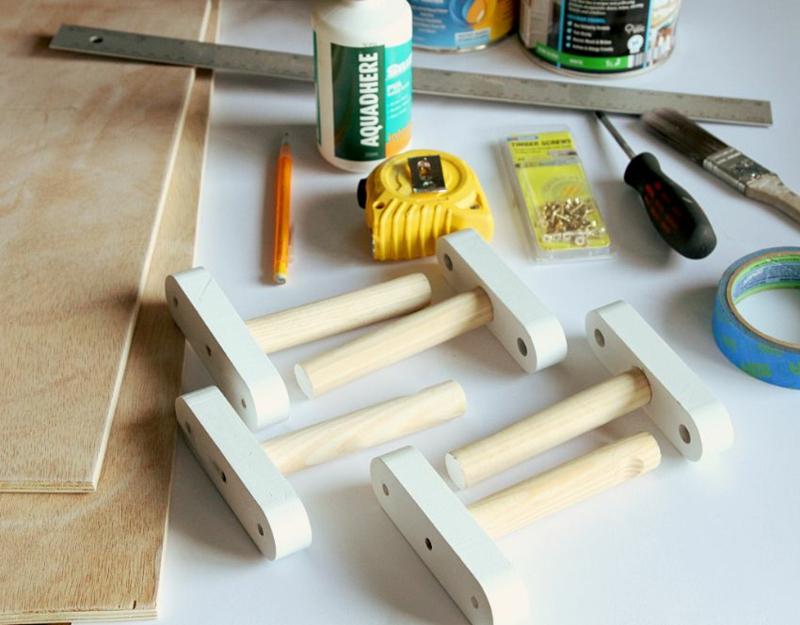 Dielenmöbel DIY Garderobenständer Materialien Garderobe selber bauen