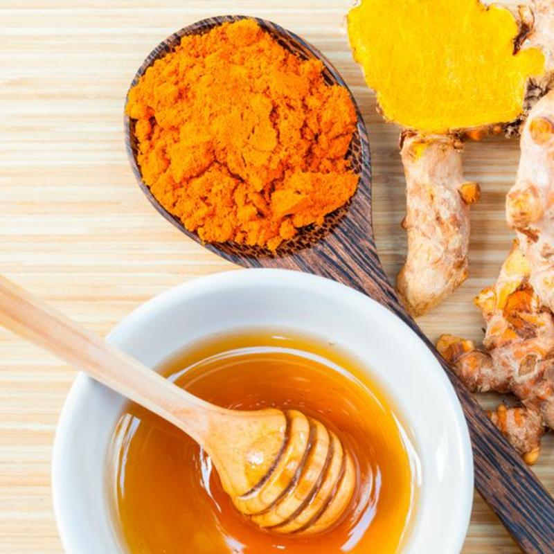 Gesichtsmaske selber machen Gesichtspflege Honig Kurkuma indische Gewürze