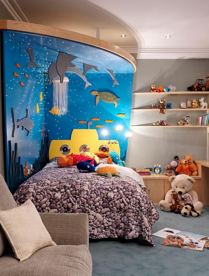Kinderzimmer gestalten wie ein designer 36 schnieke dekoideen for Aquarium im kinderzimmer