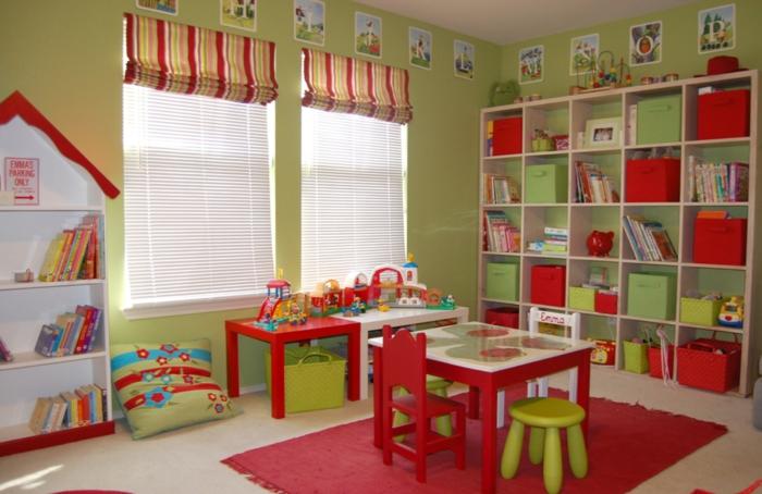 Gestaltung kinderzimmer gestalten wandgestaltung schreibtisch kleiderschrank teppich geräumig