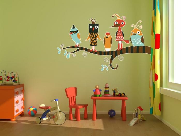 Gestaltung kinderzimmer gestalten wandgestaltung schreibtisch kleiderschrank teppich streichen