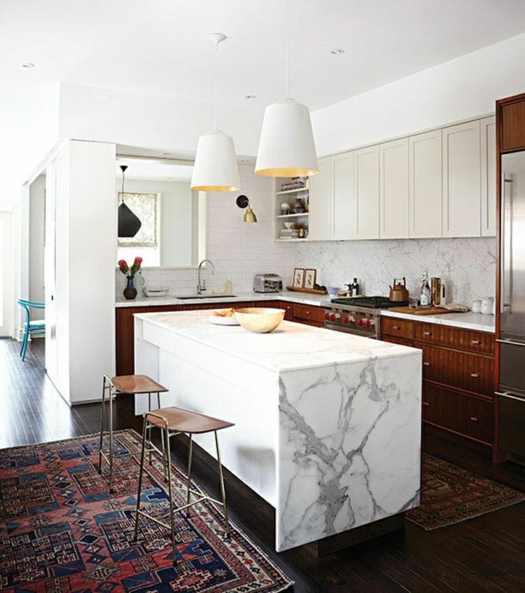Küchendesign Küchen modern gestalten Marmor Kücheninsel
