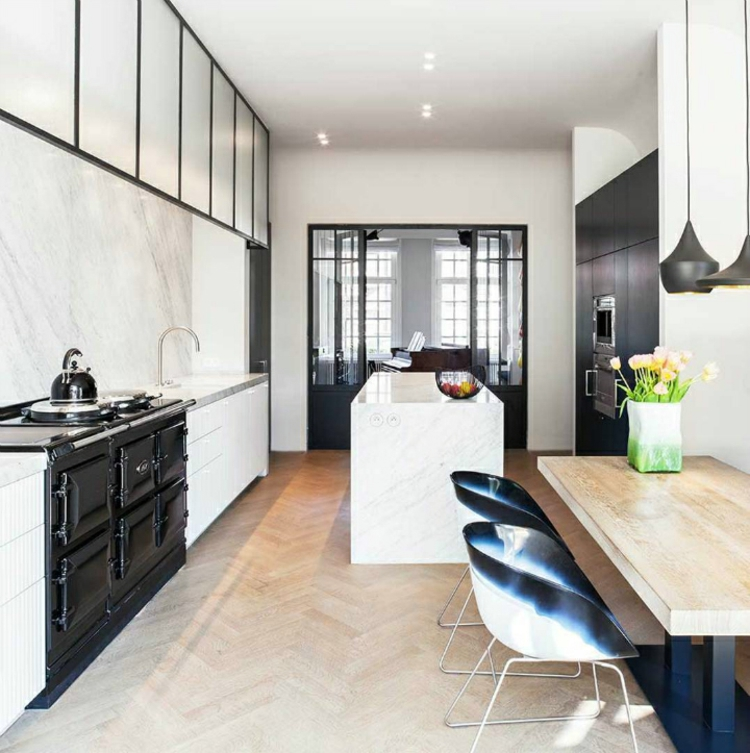 Küchendesign Küchen modern schwarz weiß Küchenbilder