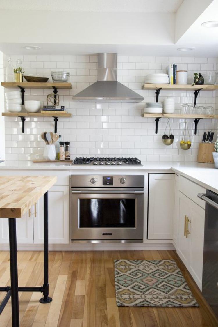 Küchendesign aktuelle Trends Küchenbilder Küchenfliesen Wand weiß