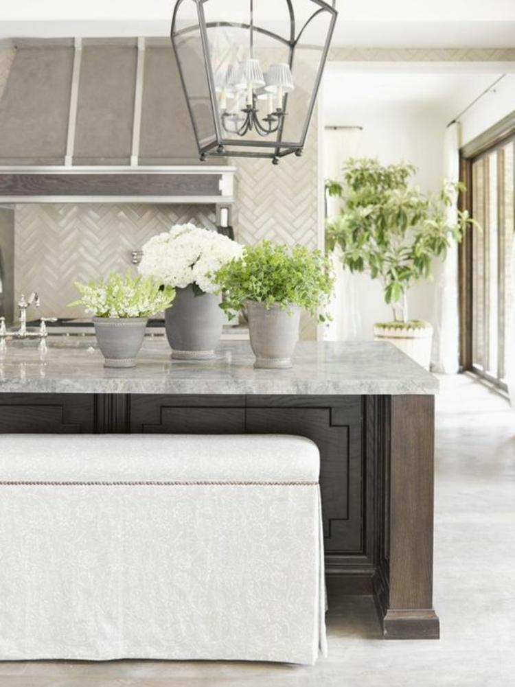 Küchendesign aktuelle Trends moderne Küchen Küchenfliesen Wand weiß