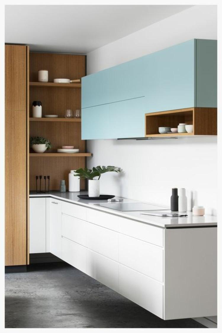 Küchendesign aktuelle Trends moderne Küchen Küchenschränke Holz