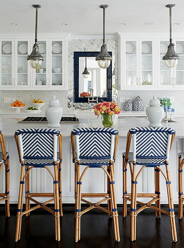 Küchendesign aktuelle Trends moderne Landhausküche Küchenfliesen