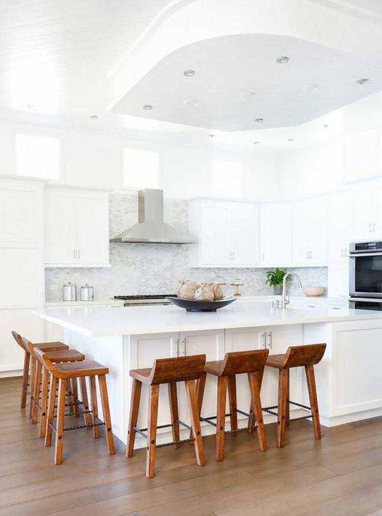 Küchendesign moderne Küchen Küchenstühle Holz Küchenbilder