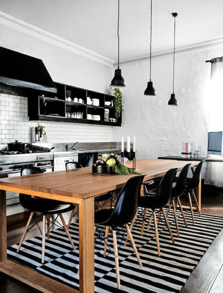 Küchendesign moderne Küchen schwarz weiß Küchenbilder