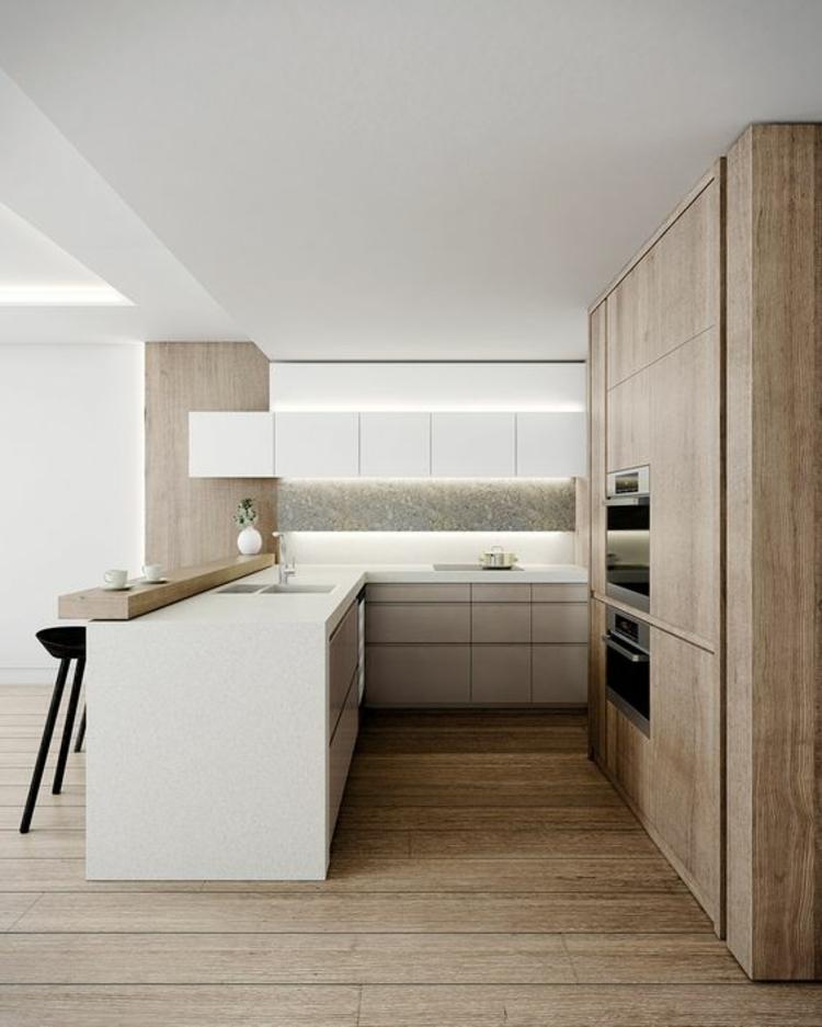 Küchendesign moderne Landhausküche Holz Küchenschränke Küchenbilder