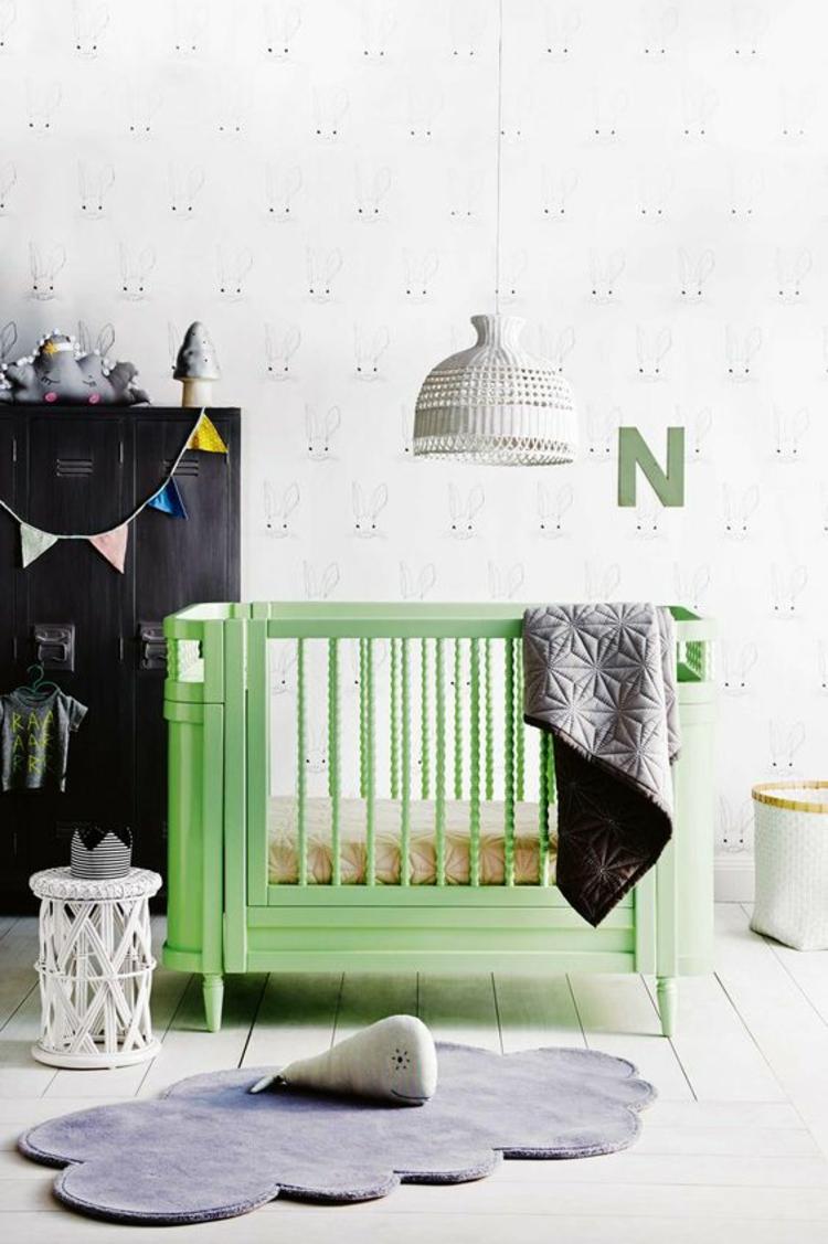 Kinderzimmer Ideen Bilder für Kinderzimmer Babybett grün