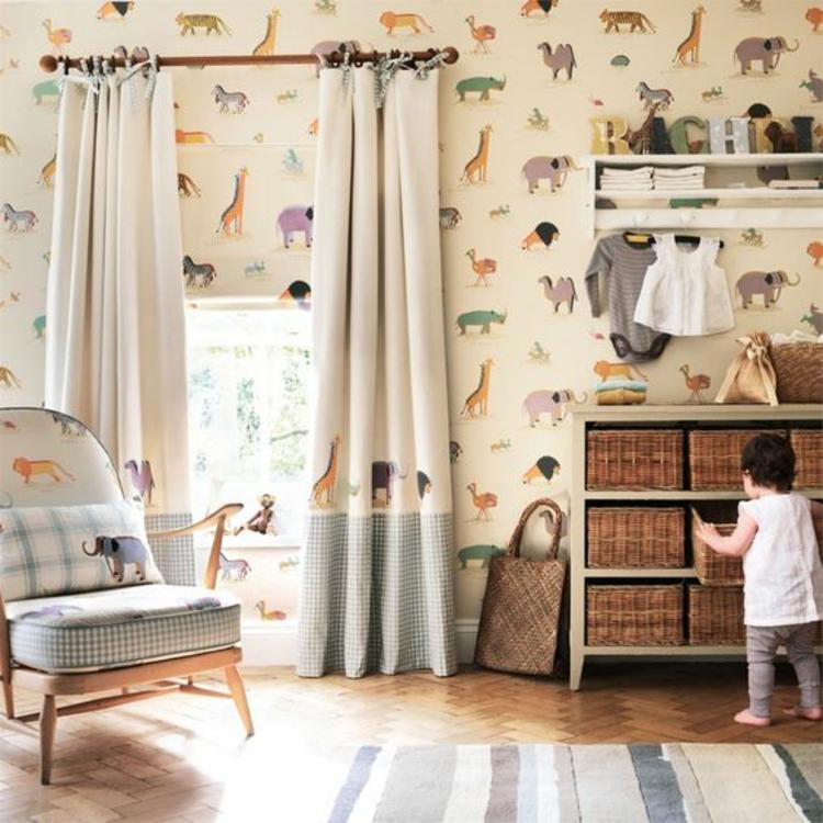 Kinderzimmer Ideen Bilder für Kinderzimmer Gardinen Muster Tapeten
