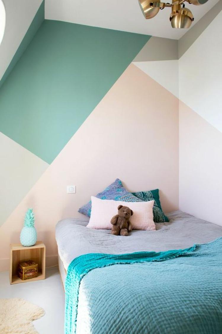 Kinderzimmer Ideen Bilder für Kinderzimmer Wandarben kombinieren