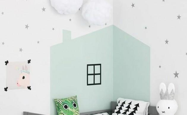 Kinderzimmer-Ideen-Bilder-für-Kinderzimmer-Wanddeko-Kinderbett