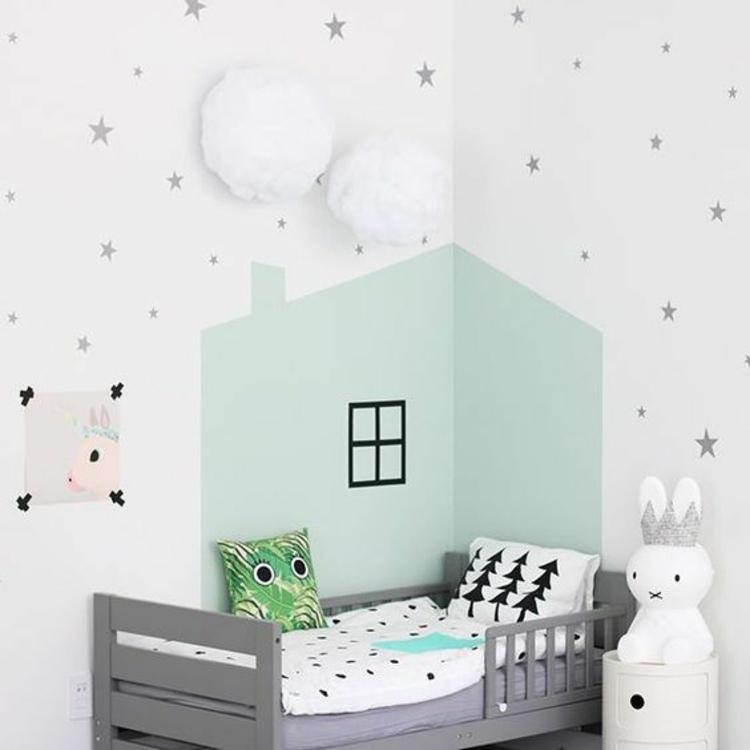 Kinderzimmer Ideen Bilder für Kinderzimmer Wanddeko Kinderbett