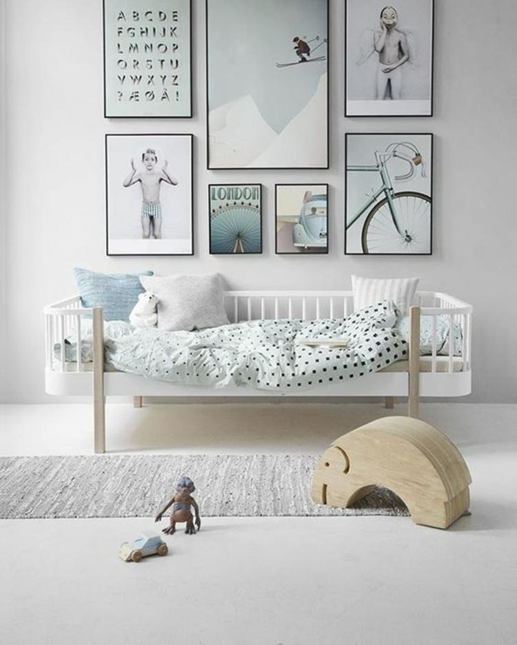 Kinderzimmer Ideen Bilder für Kinderzimmer Wanddeko Pastellfarben Junge
