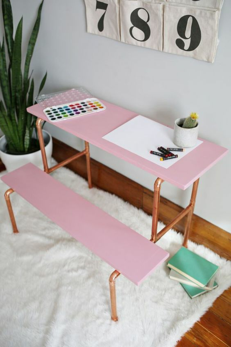 Kinderzimmer einrichten Bilder für Kinderzimmer DIY Schreibtisch für Kinder
