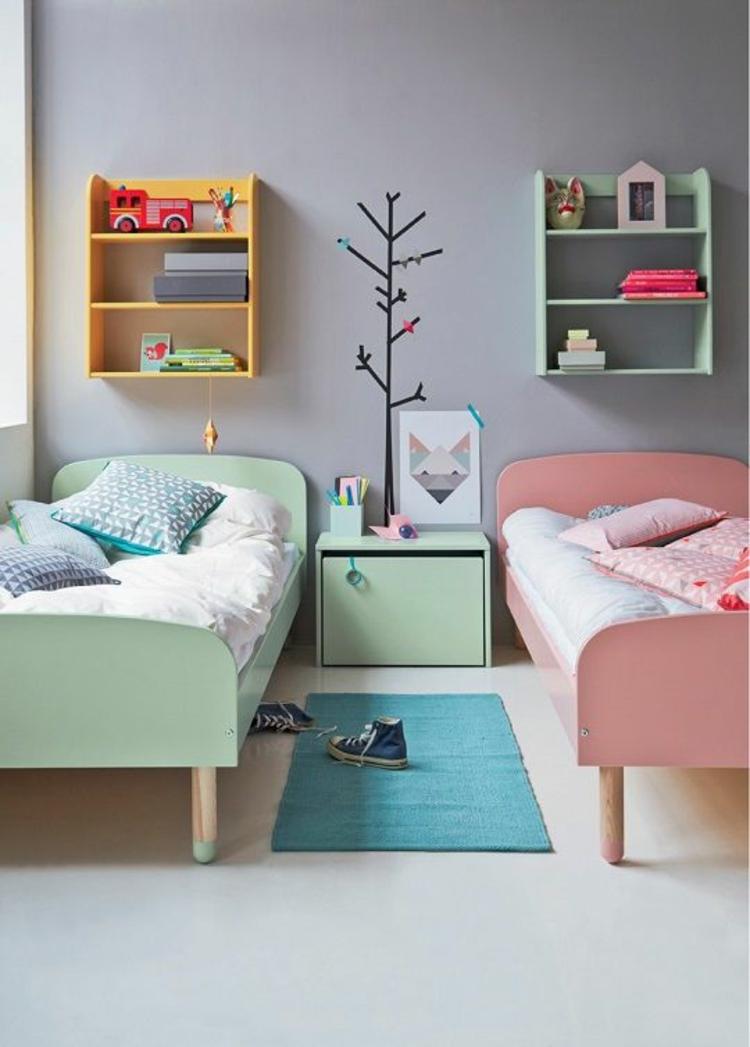 Kinderzimmer einrichten Bilder für Kinderzimmer Geschwister Betten