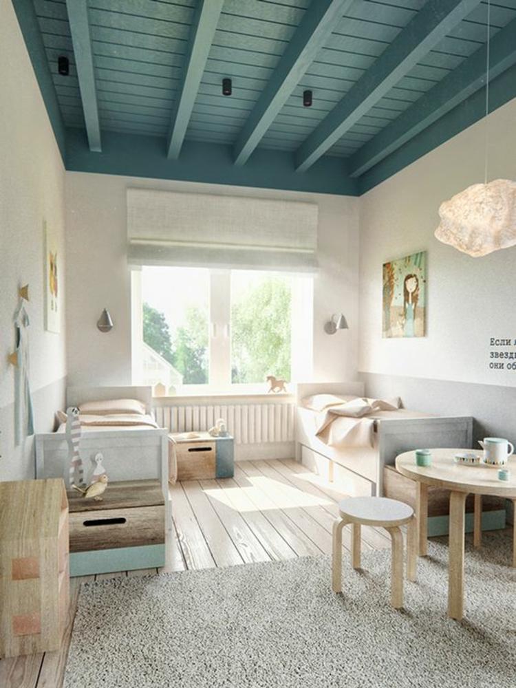 Kinderzimmer einrichten Bilder für Kinderzimmer Holzmöbel Holzboden