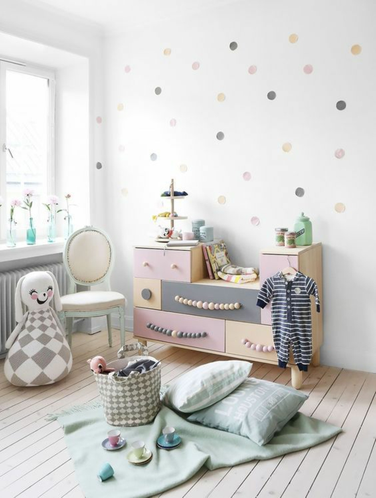 Kinderzimmer einrichten Bilder für Kinderzimmer Pastellfarben