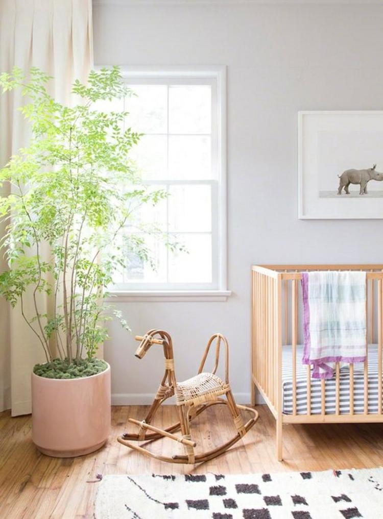 Kinderzimmer einrichten Gardinen für Kinderzimmer Bett Zimmerpflanzen