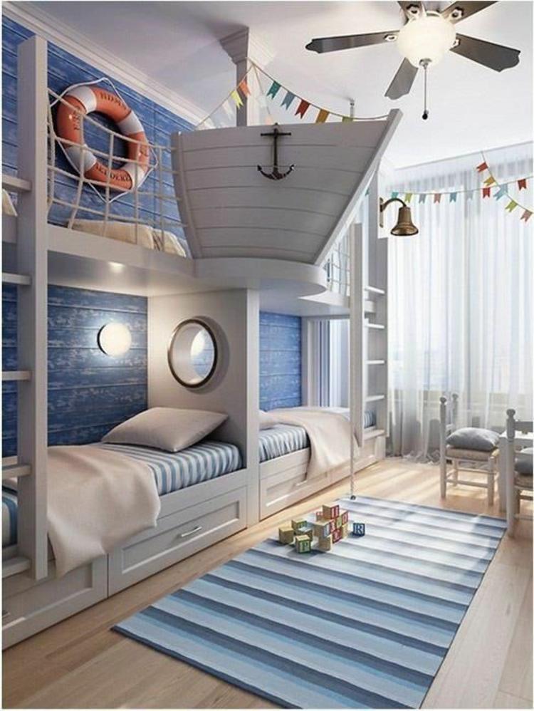 Kinderzimmer einrichten maritimer Stil Bilder für Kinderzimmer Kinderbetten