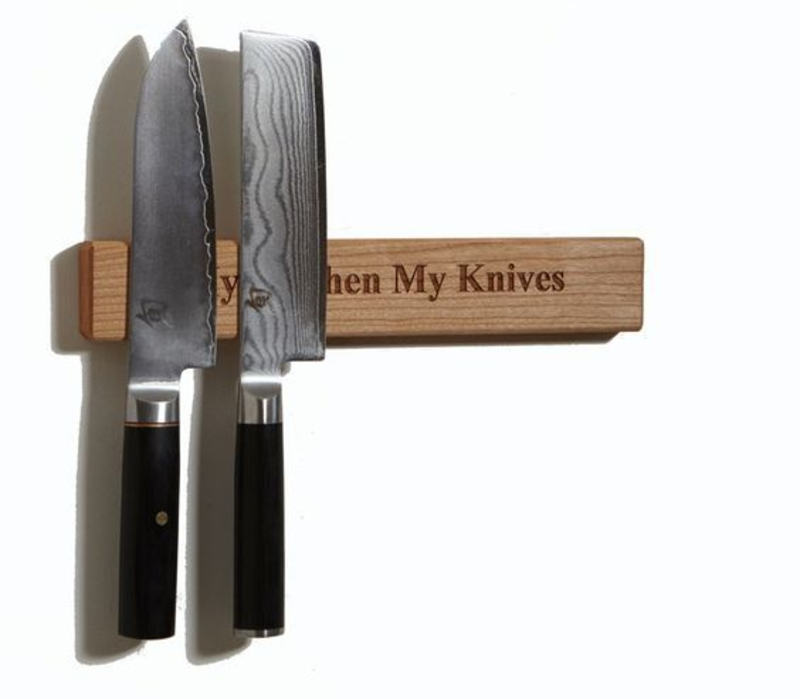 Magnetleiste für Messer selber bauen Anleitung Küchenaccessoires