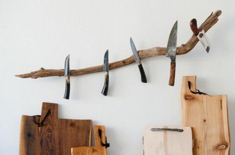 Magnetleiste für Messer selber bauen Anleitung Treibholz Küchenzubehör