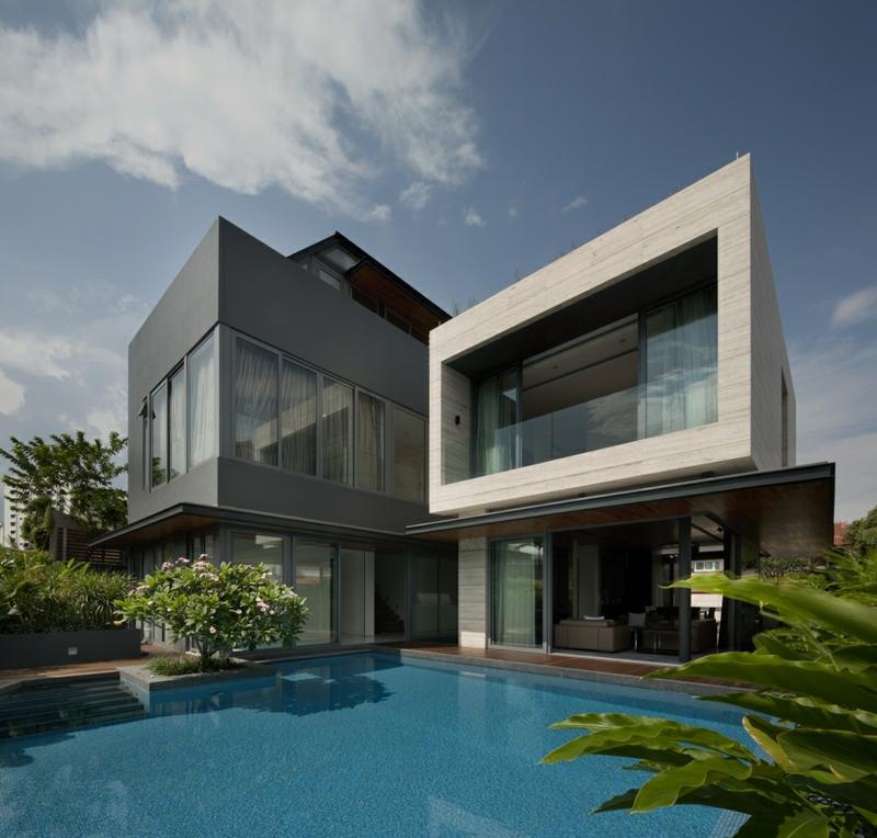 Moderne Architektur Häuser bauen Architektenhaus Luxushäuser