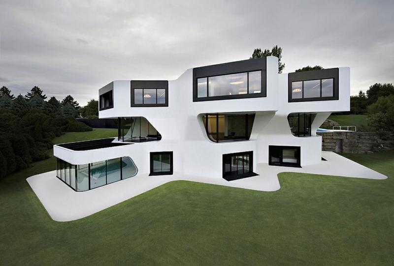 Moderne Architektur Häuser bauen Architektenhaus innovatives Design